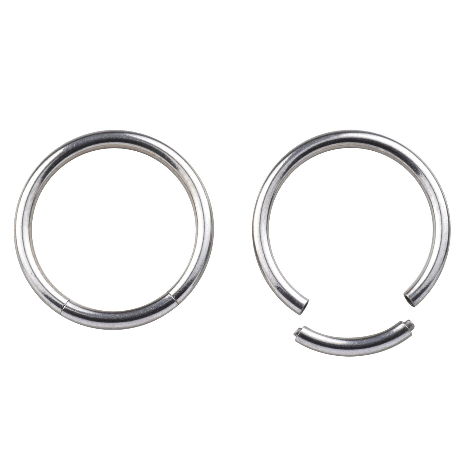 Great my shop 16G Surgical Stainless Steel Seamless Septum Clicker Ring Lip Helix Tragus Cartilage Earrings Nose Rings Segment Seamless Nose Hoop Pirecing 8mm