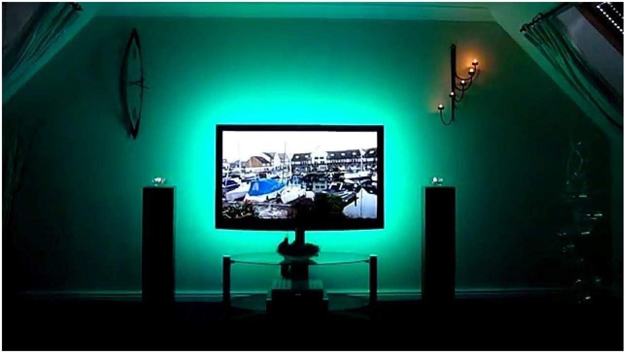calish sesgo TV retroiluminación LED tira de iluminación, iluminación de televisión por cable USB para Tv de pantalla plana LCD, PC de sobremesa, 100 cm 10.00 watts: Amazon.es: Hogar