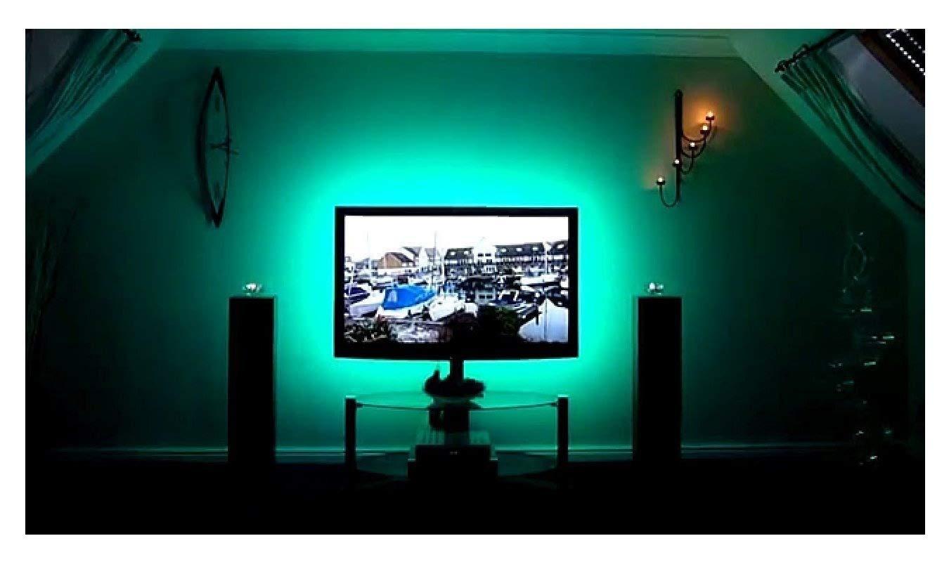 Calish Bias Lighting TV Backlight 100cm Multi Color RGB LED Strip, USB Cable TV Lighting for Flat Screen TV LCD, Desktop PC(Reduce eye fatigue and increase image clarity) YE-004-100cm