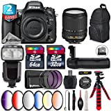 Holiday Saving Bundle for D610 DSLR Camera + 18-140mm VR Lens + Flash with LCD Display + Battery Grip + 64GB Class 10 Memory Card + 6PC Graduated Color Filer Set - International Version
