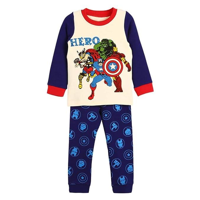 e55644d440fdc Amazon.com: Hero Boys Pyjamas Cotton Toddler Clothes Kids Sleepwear ...