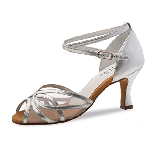 De 60 Cm Kern Anna Chaussures Danse 6 Argent Cuir Femmes 740 uK3lTFc1J