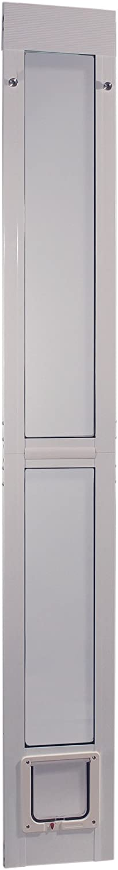 "Ideal Pet Products Aluminum Modular Patio Pet Door, White, Medium, 7"" x 11.25"" Flap Size : Doggy Door For Sliding Glass Door : Pet Supplies"