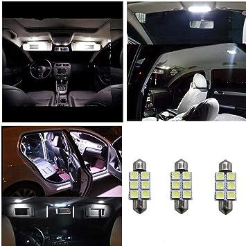 Bombillas LED blancas para interior de coche, luces de mapa, 43 mm, 44 mm, 3 unidades: Amazon.es: Coche y moto