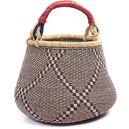 Fair Trade Ghana Bolga African Gambibgo Pot 14-16'' Across, #44346 by Baskets of Africa