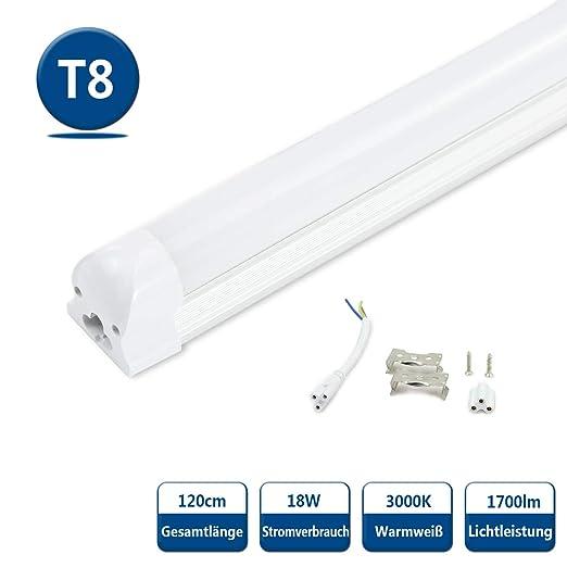 Illuminazione Neon Per Ufficio.Tubo Led T8 Lampada Fluorescente 120cm 18w G13 Smd2835 1700lm