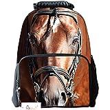 Ibeauti Unisex School Backpack, Large Capacity 3D Vivid Animal Face Print Backpack