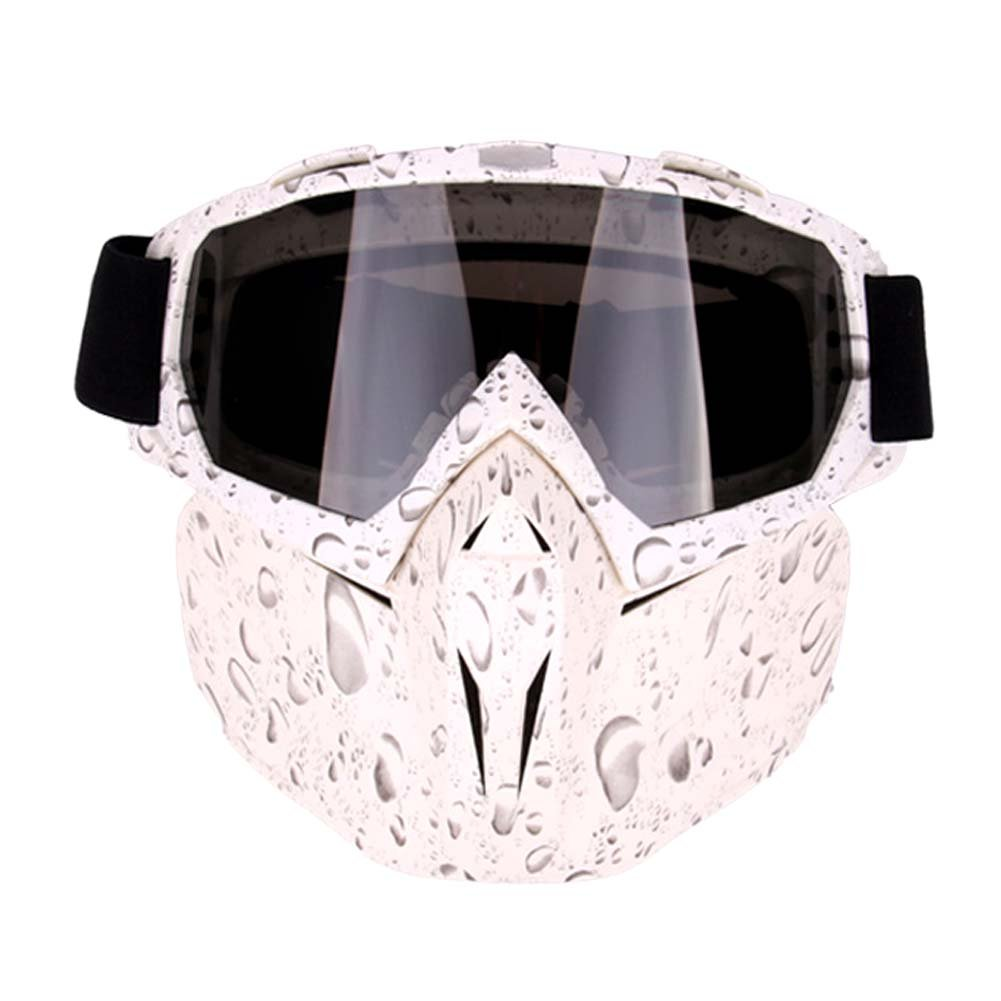 Freehawk Motorcycle Goggle Mask - Tactical Glasses with Detachable Mask for Airsoft/CS/Paintball/Skiing/Riding/Snowmobile/Cycling/Halloween/Costume Ball (Pearl Pattern) by Freehawk