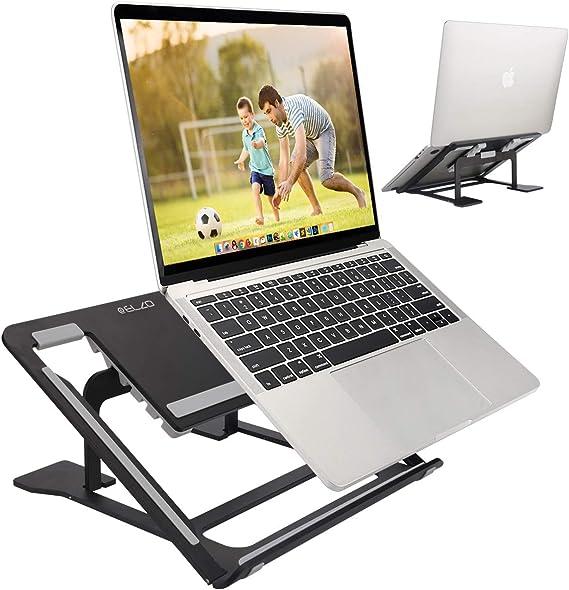 Notebook Tablet iPad Supporto Notebook Alluminio Angolazione Regolabile Pieghevole Ventilato per 10-17 MacBook Epilum Supporto Pc Portatile