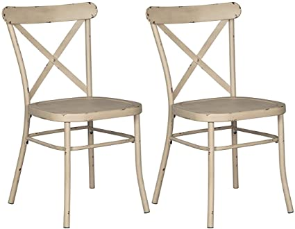 Ashley Furniture Signature Design - Minnona Dining Side Chair - Set of 2 -  Cross Back - Amazon.com: Ashley Furniture Signature Design - Minnona Dining Side