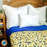 Weighted Sensory Blankets by ReachTherapy Solutions - Choose from 8 Different Designs & 5 to 15 lbs (45'' x 65'' - 12 lbs, Yellow Minions)
