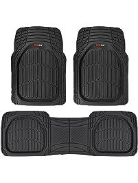 Motor Trend MT-923-BK FlexTough Contour Liners - Deep Dish Heavy Duty Rubber Floor Mats for Car SUV Truck & Van - All...