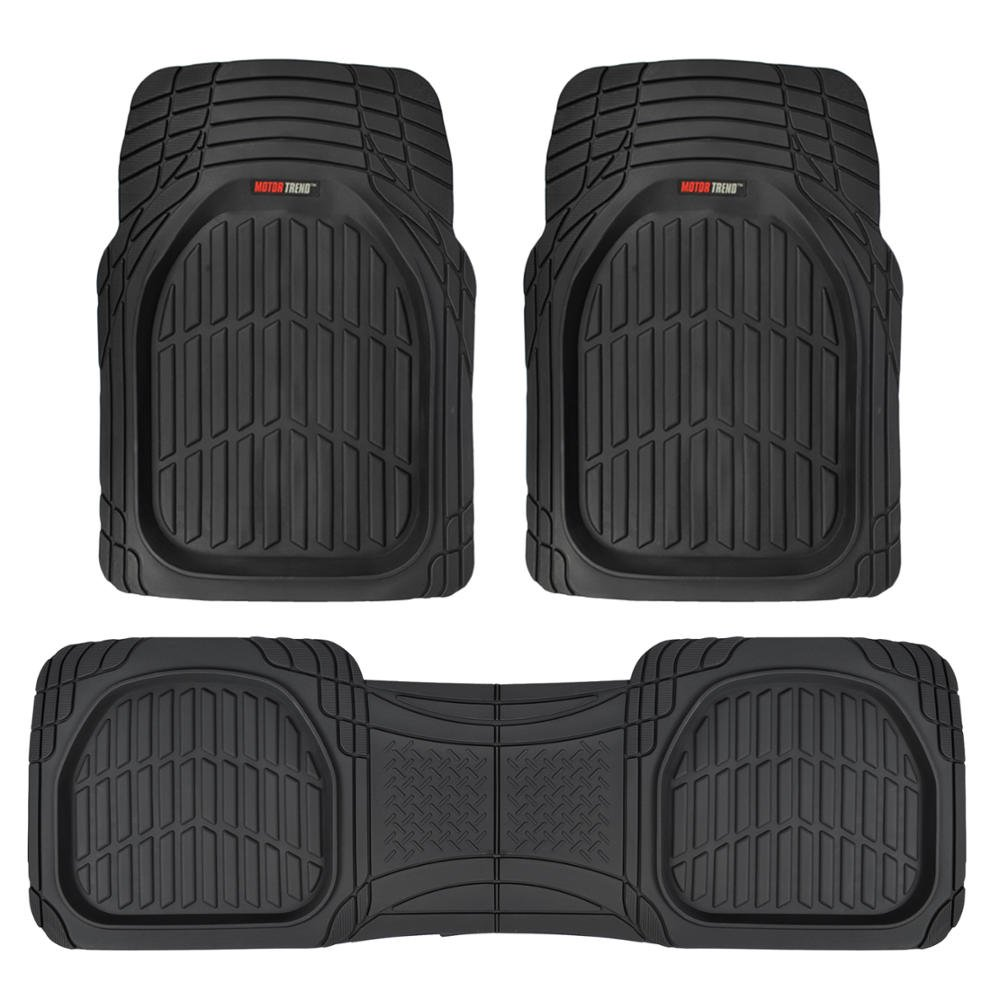 Rubber floor mats gmc terrain - Motor Trend Flextough Contour Liners Deep Dish Heavy Duty Rubber Floor Mats Black