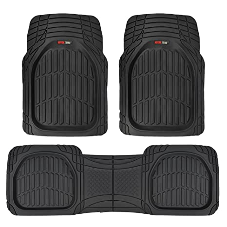 Suv Floor Mats >> Amazon Com Motor Trend Mt 923 Bk Flextough Contour Liners Deep