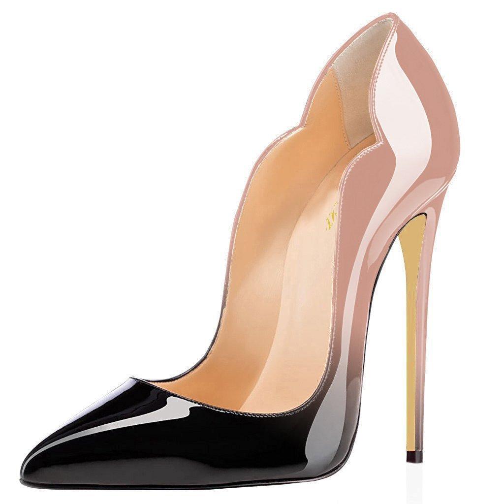 Lutalica - Zapatos de Vestir de Charol para Mujer 11.5 B(M) US|Nude-black