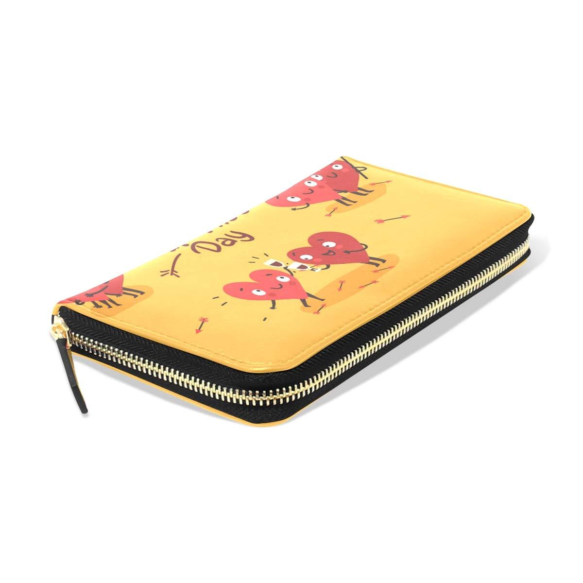 Womens Wallets Valentines Day Envelope Leather Passport Wallet Coin Purse Girls Handbags