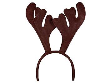 Weihnachtsbilder Elch.Alsino Haarreifen Elch Rentier Geweih Weihnachtsmuetze Elchgeweih Haarreif Braun Wm 19a