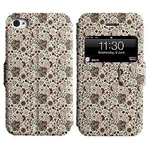 LEOCASE flor linda Funda Carcasa Cuero Tapa Case Para Apple iPhone 4 / 4S No.1003123