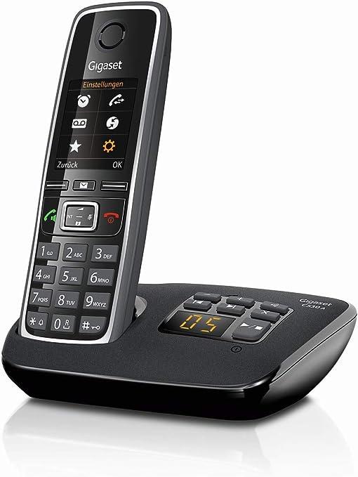 Gigaset C530A - Teléfono (Teléfono DECT, Altavoz, 200 entradas, Negro): Amazon.es: Electrónica