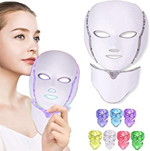 7 Color Facial Mask, Titoe Photon Anti-aging Toning Facial Skin Care Mask Device for Skin Rejuvenation/Treatment Skin …