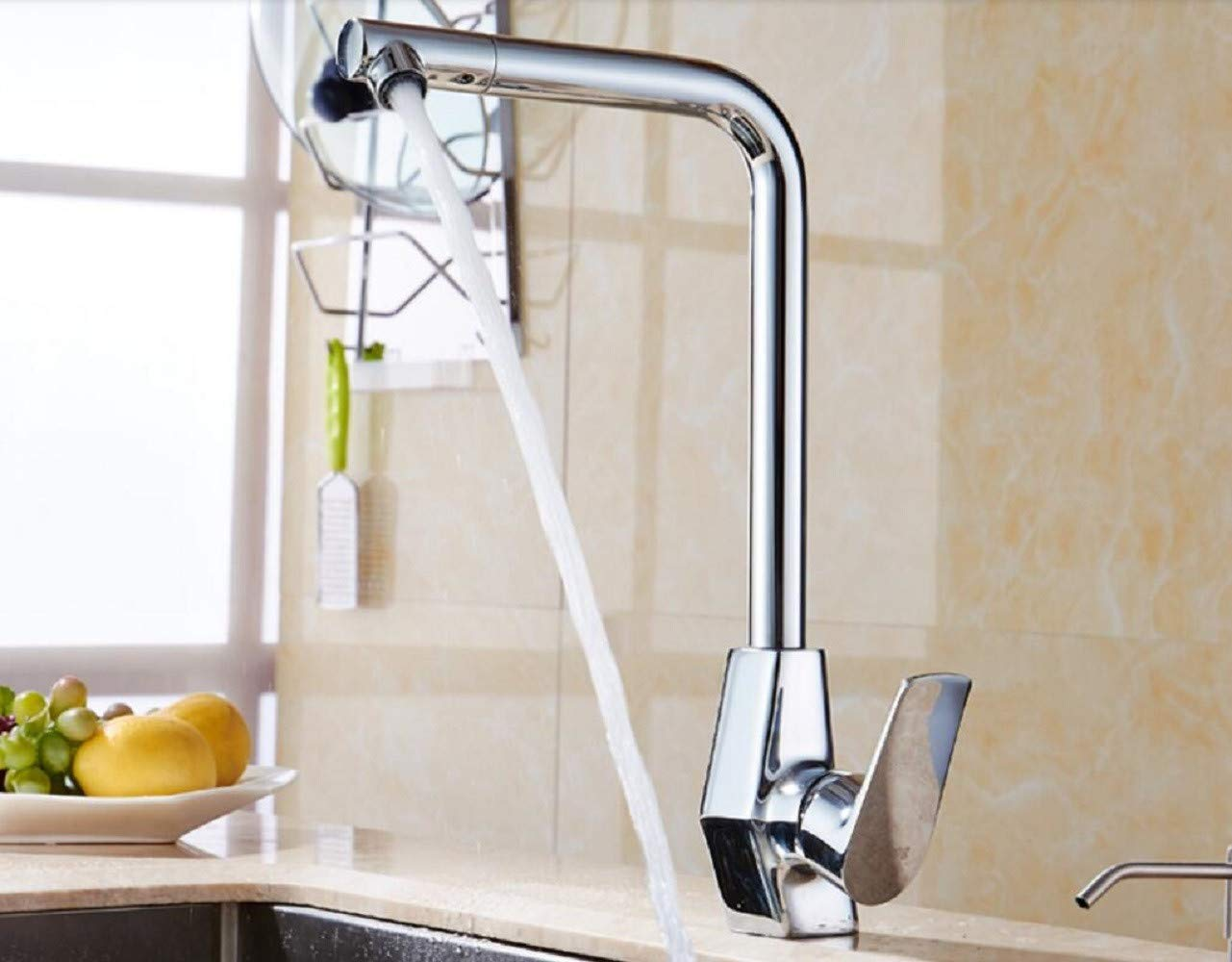 Kitchen Tap Cold and Hot Kitchen Square Appearance Design Drawing Sink Faucet Kitchen Taps Kitchen Sink Mixer Taps Basin Tap