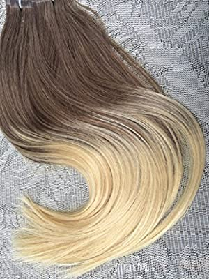 Moresoo 100g 40pcs Straight Remy Human Hair Ombre Color Seamless Skin Weft Tape In Hair Extensions