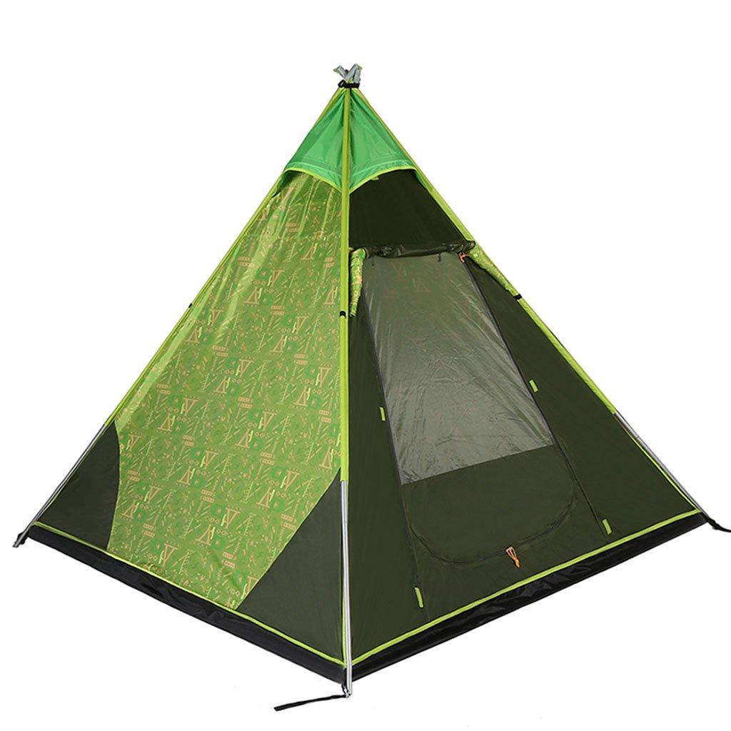 TENT-L ZP Zelt, Outdoor-Feld Camping Rainproof Schatten Pyramide Zelt huwaizhangpeng (Farbe : Grün)