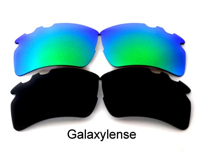 3b8789888c Amazon.com  Galaxy Replacement Lens For Oakley Flak 2.0 XL Vented Sunglasses  Black Green Polarized  Clothing