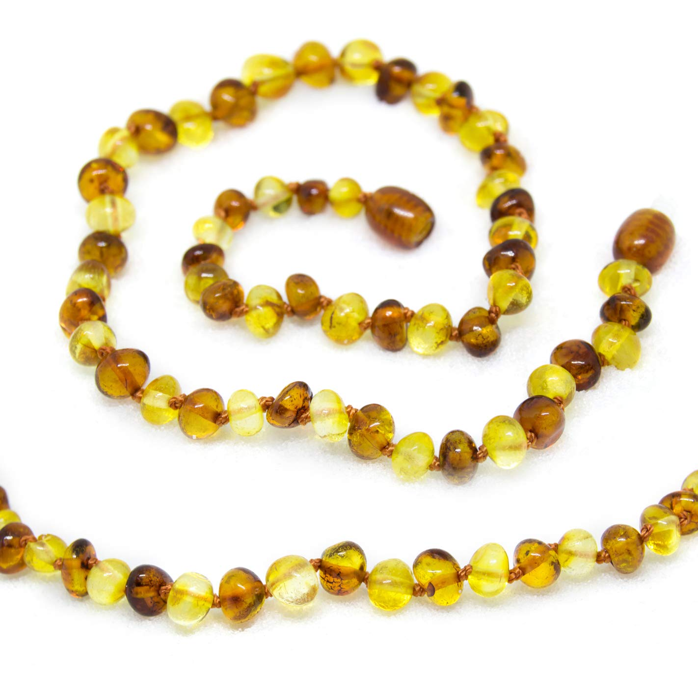 The Art of Cure Baltic Amber Necklace 17 inch -(1x1) FTIR Lab Tested Authentic Amber by The Art of Cure