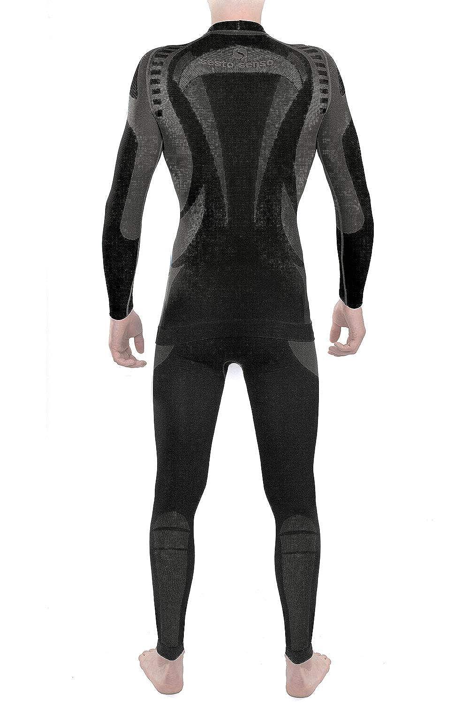 Sesto Senso Herren Funktionsunterw/äsche Set langarm Shirt lange Unterhose Thermoaktiv