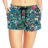 PPANFKEI Hippie Hip Hop Drawstring Womens Boardshorts Swim Trunks Tropical Gym Board Shorts Swimming Trunks