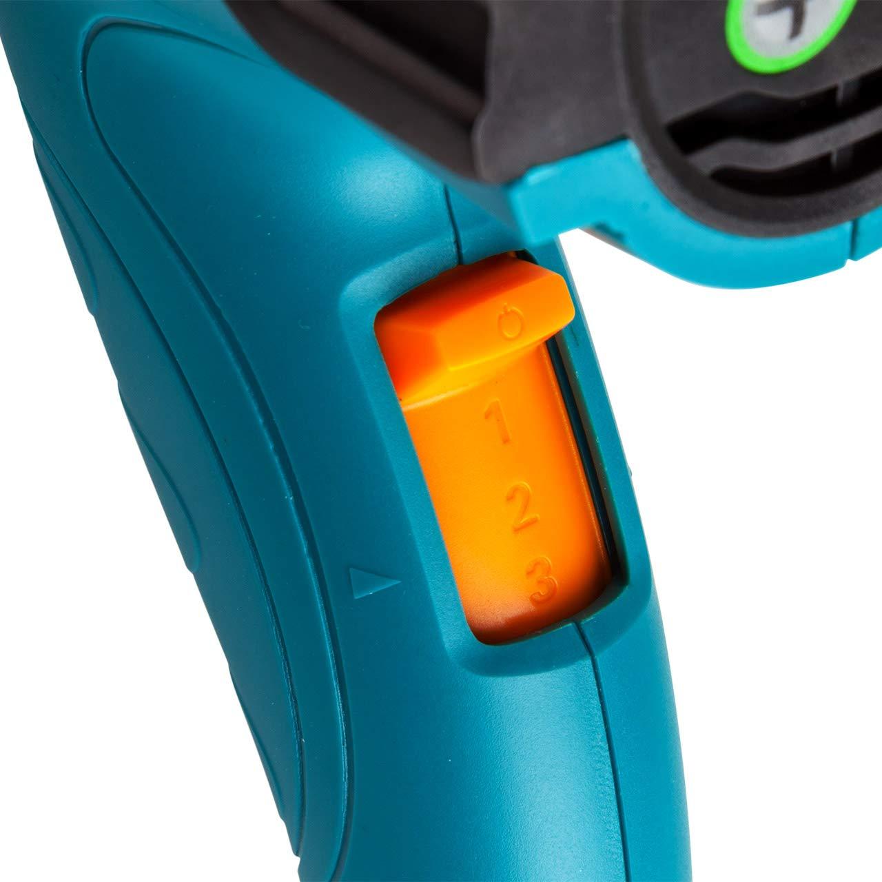 2000 Watt 60 /°C // 80-350 /°C // 80-600 /°C 3 Heizstufen Heissluftgebl/äse Bort BHG-2000N-LK mit LCD Display