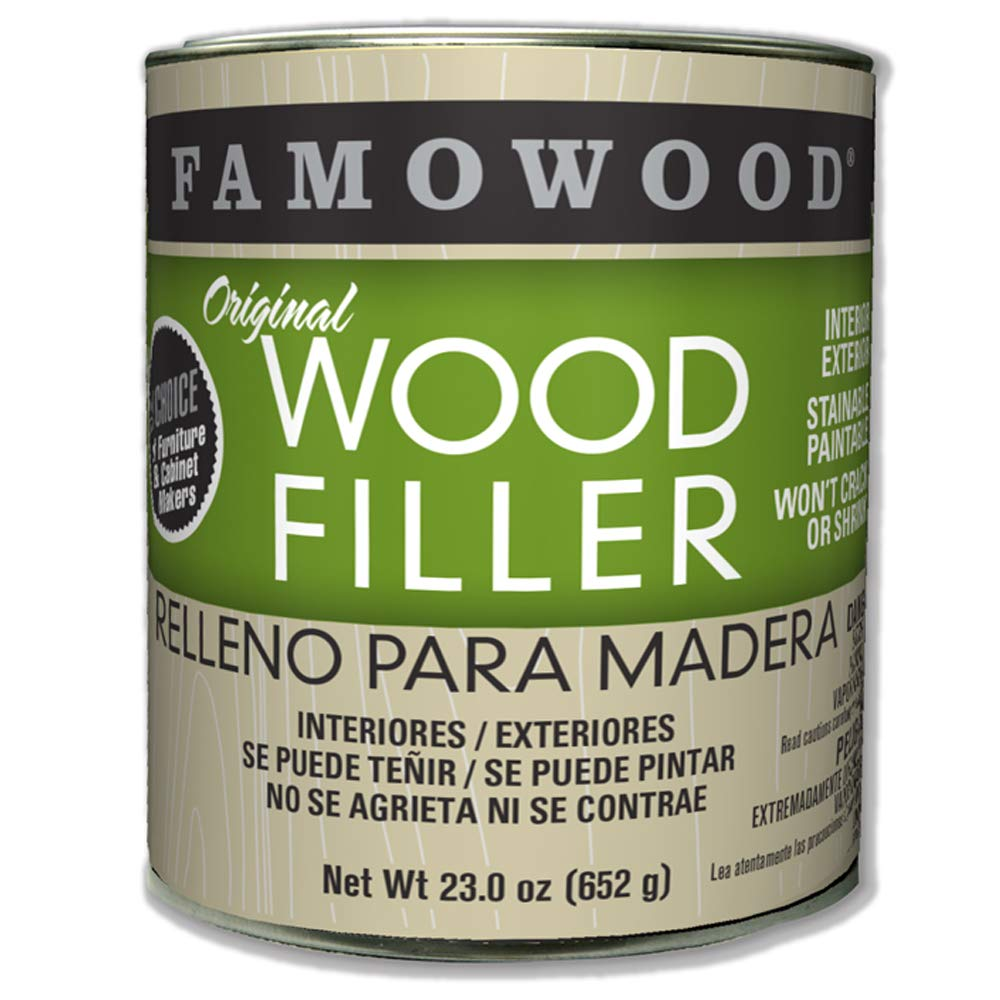 FamoWood 36021128 Original Wood Filler - Pint, Oak/Teak by FamoWood