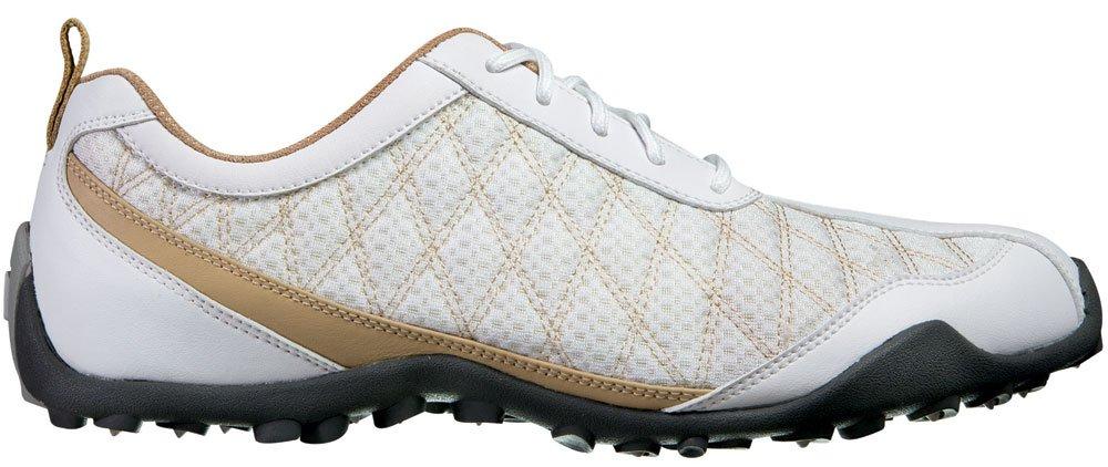 FootJoy Women's CloseOut Superlite White/Tan 98847 Golf Shoes 8.5 M US