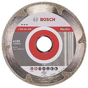 Bosch 2 608 602 690  - Disco de corte de diamante Best for Marble - 125 x 22,23 x 2,2 x 3 mm (pack de 1)