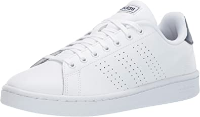 adidas white leather tennis shoes