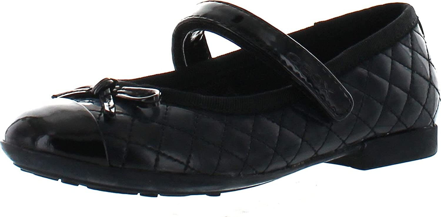 Geox Girls Plie Quilted Fashion Mary Jane Flats Shoes