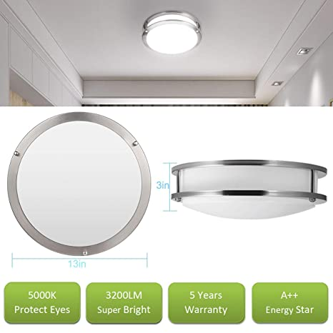 Amazon.com: Drosbey 36W LED Ceiling Light Fixture, 13in ...