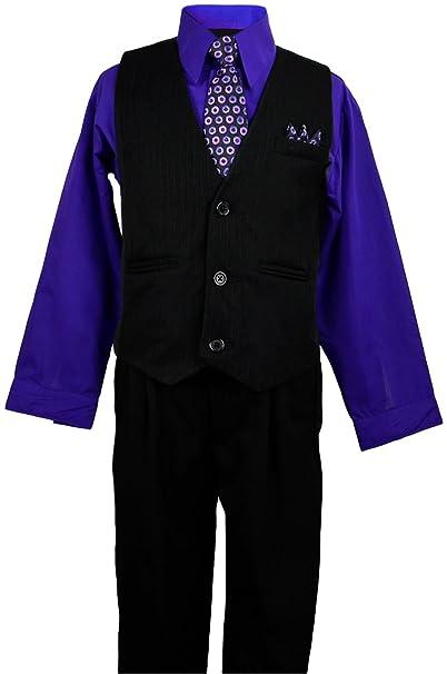 Amazon.com: Boys para vestido Wear Negro Pinstripe Chaleco ...