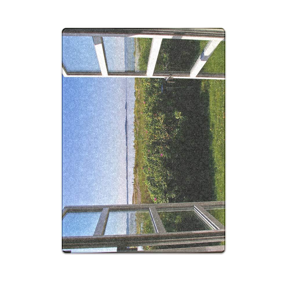 Romantic Simple COLORSFORU Backyard View from Inside a Window Custom Fleece Blanket 58x 80 Inch Large