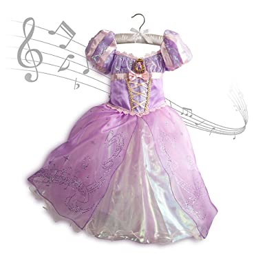 Amazon.com: Disney Store Tangled Princess Rapunzel Musical Costume ...