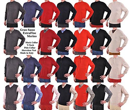 Gran Sasso Extrafine Merino Wool Mock Turtleneck Sweater Medium/Postman Blue by GranSasso (Image #3)
