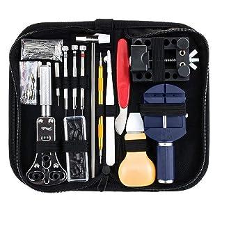 147 pcs Reloj Juego de herramientas profesional Reloj de pulsera Reparación Herramientas Kit Para Abrir Reloj
