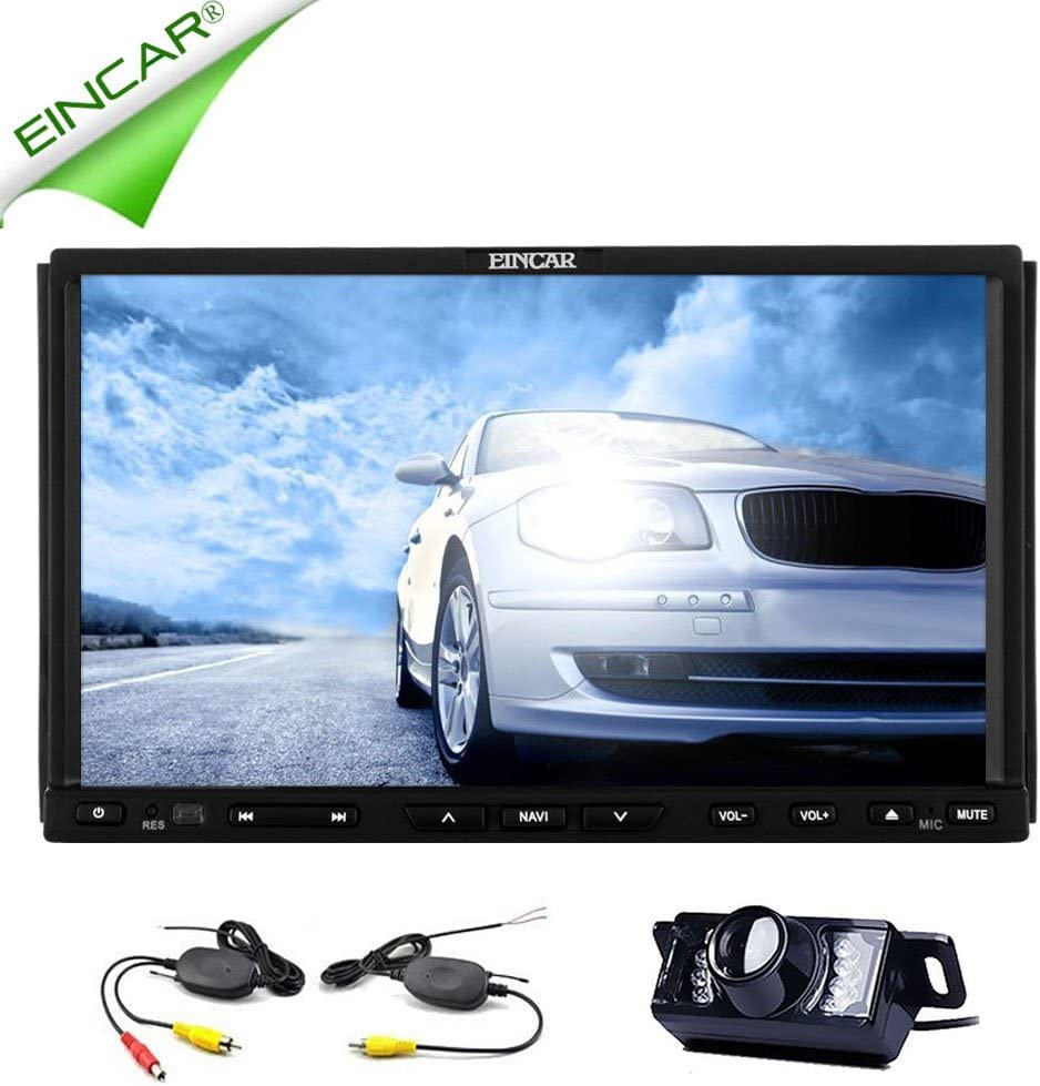 Eincar Capacitive Multimedia Gps Navigation System Car Dvd Player Cd Radio Receiver Fm Radio Am Double Din Bluetooth Car Stereo Video Built In Rds Amp Sub Wireless Back Up Camera Navigation Car