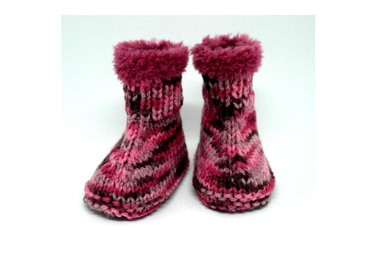 Botines tejidos a mano, Botines de niña, Bebé uggs, Zapatillas de niña, Uggs, Botas de invierno, Bebé uggs, Botines de punto, Regalo de baby shower: ...