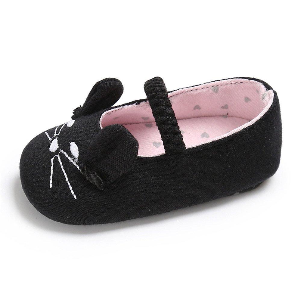 ESTAMICO Newborn Baby Girls Mary Jane Ballerina Crib Shoes