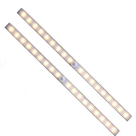 Unigear Luz Armario USB Recargable Lámpara Automático PIR Sensor De Movimiento Humano 18 LED 3 Modo