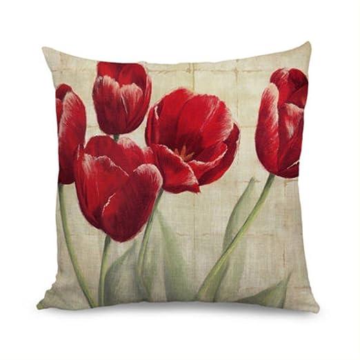 damuyas Poppy Red Tulip manta funda de almohada decorativo ...
