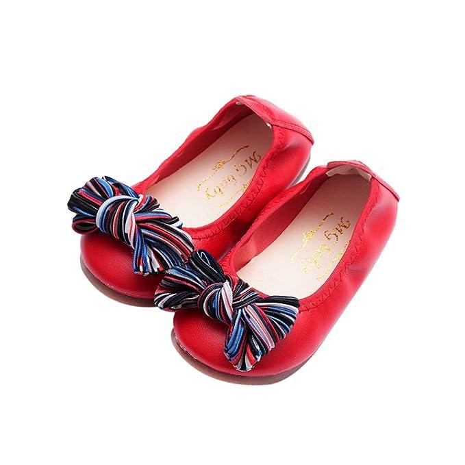 YanHoo Zapatos para niños Zapatos para bebés Arco para niñas Zapatos ...