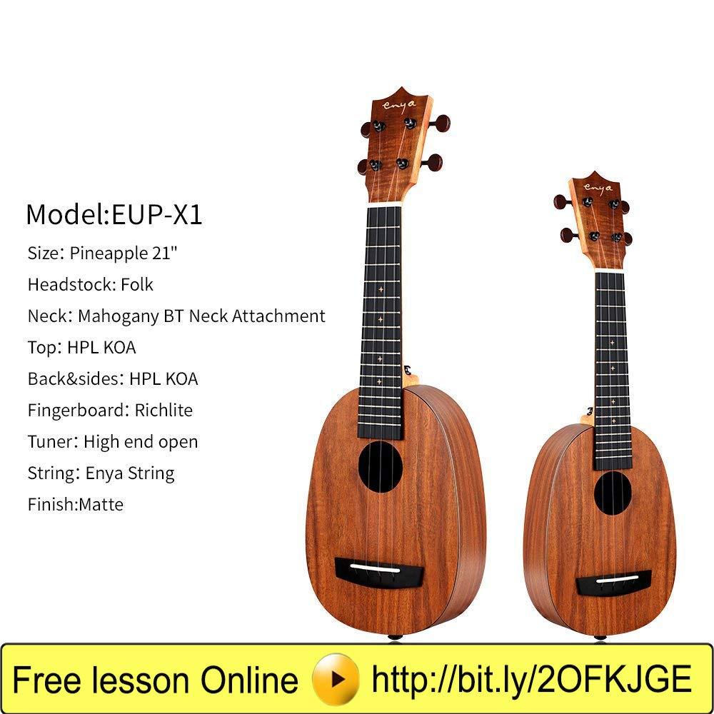 Enya EUP-X1 Piña Ukelele de soprano 21